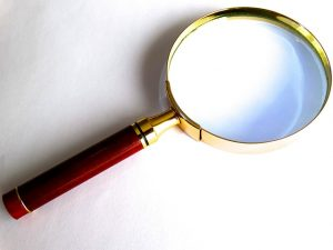 Magnifying glass- Bring it when signing the moving contract