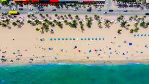 beach view from a drone